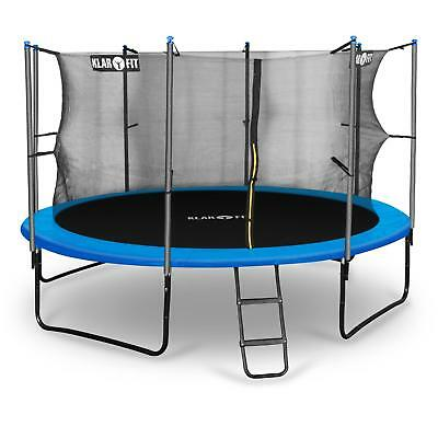 KIDS 12FT 150kg OUTDOOR TRAMPOLINE RAIN COVER & SAFETY NET CHILDREN GIFT IDEA