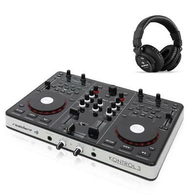 Dj Midi Controller Headphone Package Sound Card Professional Set Party Disco Pa
