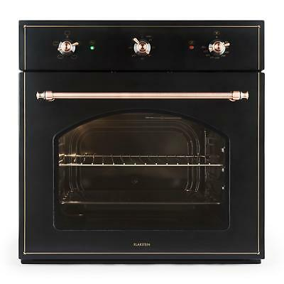 Klarstein Vilhelmine Black Electric Oven Victorain Age Energy A Copper Look 55 L