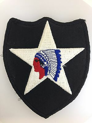 GENUINE America U.S. Army Vietnam War 2nd Infantry Division cloth sleeve patch