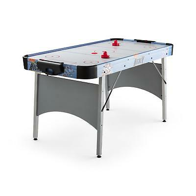 "Oneconcept Air Hockey Table 6 "" Large Play Surface Electric Game Gliding Silver"