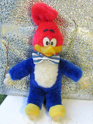 "Rare  Hanging  Woody Woodpecker -Vintage 1957  Plush 12"" Rubber Face Bowtie EUC"