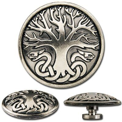 6 Pcs. Celtic Tree of Life No. 1 Screwback Conchos, Decorative Screw Back Rivets