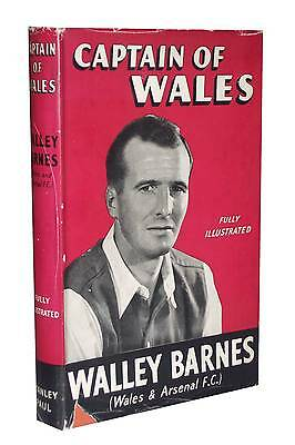 Wally Barnes Signed Captain of Wales Book Arsenal FC autograph VERY RARE 1953