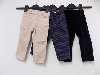 Mayoral / zara / M&S set of 3 jeans / trousers size 12-18 months ..
