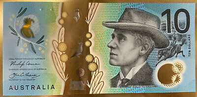 💫Two Australia 2017 $10 notes FIRST PREFIX AA Ten dollar Brand New Uncirculated