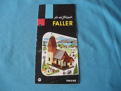 467 H Faller 1962/63 Brochure 12 Pages Houses Aircraft Models Figurines