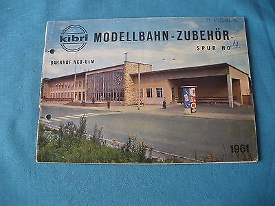 472 H Catalogue 24 Pages Kibri 1961 Houses Churches Stations Tunnels Figurines