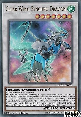 Yugioh - 1x Clear Wing Synchro Dragon LEDD-ENC29 Ultra Rare - 1st Ed - NM