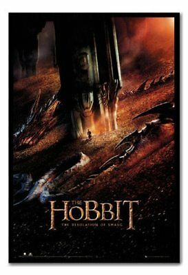 The Hobbit Desolation Of Smaug Dragon Poster Magnetic Notice Board Black Framed
