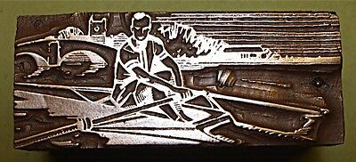 """rowing/sculling"" Printing Block."