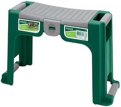 BEST Kneeler Pad Seat Storage Box Durable Plastic Frame Garden Tool Bench Large