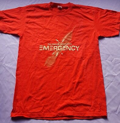 Pigeon Detectives Genuine Official Emergency Tour t shirt / Red / MEDIUM
