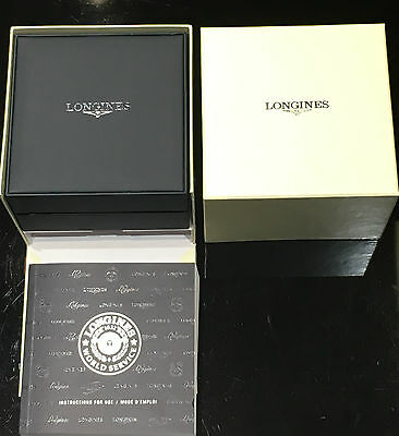 Longines Empty Luxury Watch Box With Instructions Booklet ~ New