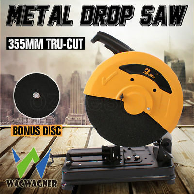 WACWAGNER 355mm Metal Cut Off Drop Saw Electric Chop Demolition Industrial NEW