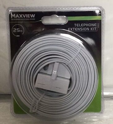 Telephone Extension Cable Kit Maxview 25m. Brand New In Packaging.