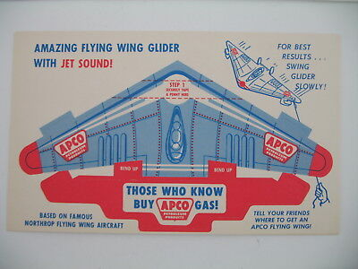 Apco Gasoline Flying Wing Glider with Jet Sound giveaway toy