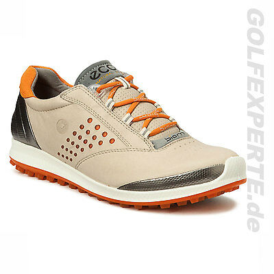 ECCO GOLF femmes femmes BIOM HYBRIDE 2 spikeless Chaussures Oyester/orange