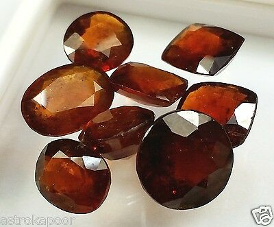 66.15 CT 8 Pcs Ceylon Hessonite Natural Awesome Quality Wholesale Lot Gems W761