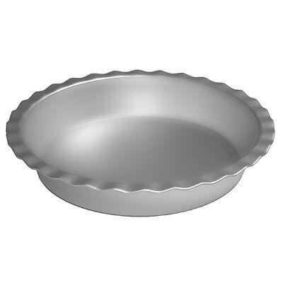 Alan Silverwood Silver Anodised Round Fluted Pie Dish Non-Stick Baking Mould 9""