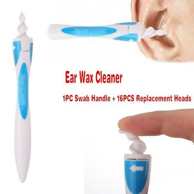 Multifunctional Smart Earwax Removal Soft Spiral Ear Cleaner Swab Easy Set Tools