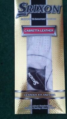 Srixon Cabretta Leather Men's golf Glove right hand for left Handed player LARGE