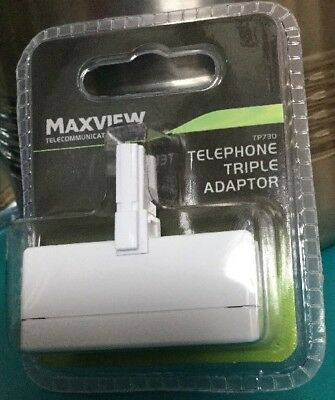 Maxview triple telephone Phone Socket 3 way Adapter Splitter