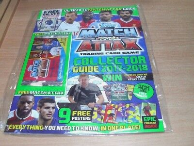 Topps Match Attax Trading Cards Game Collector Guide 2017 - 2018 + Silver Ltd Ed