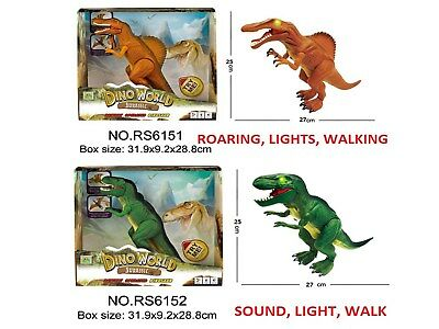 Dinosaur Jurassic World Light & Real Roaring Sound Walk Dinasour Action Figure