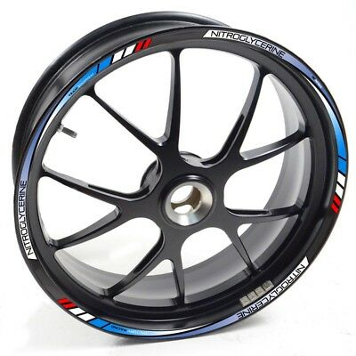 Stickers strip tape vinyl wheel rim Kawasaki ZX 6R Blue Red UKEN