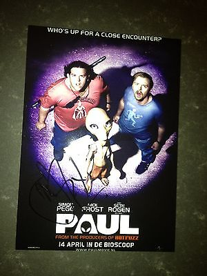 Original Autograph of Nick Frost (In Person) Paul, Ice Age