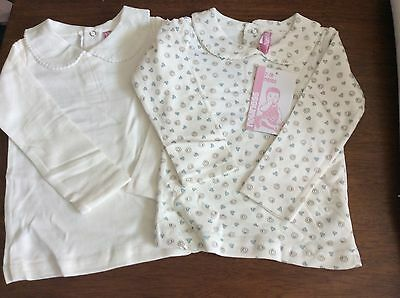 Baby girls Cream pack of 2 spanish tops 3 Months Available  BNWT Romany