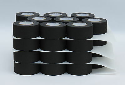 "BLACK CLOTH HOCKEY TAPE - (36 ROLLS) - 1.5""x15yds."