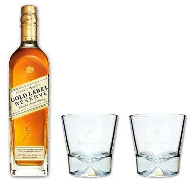 Johnnie Walker Gold Reserve 40% 0,7l - Whisky Set mit 2 Tumbler Gläser - Glas