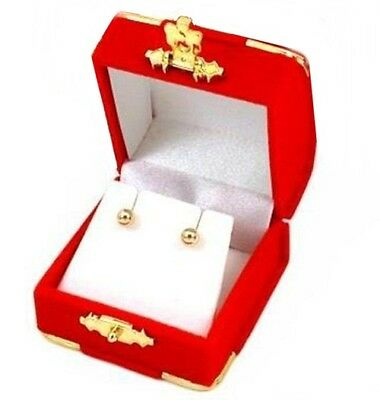 24 Red Velvet & Brass Accent Earring Jewelry Display Presentation Gift Boxes