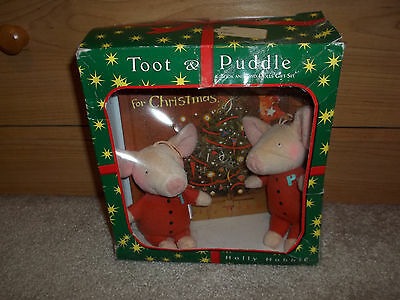 RARE!!!  Toot & Puddle Book & Dolls Set/ Holly Hobbie