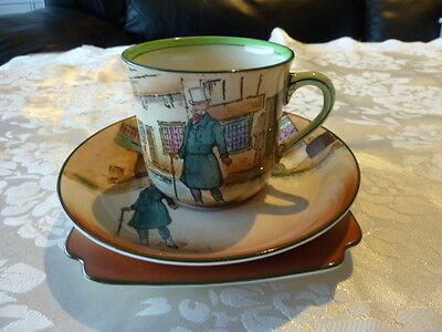 Royal Doulton England Dickensware Cup Saucer Plate Trio Mr Micawber