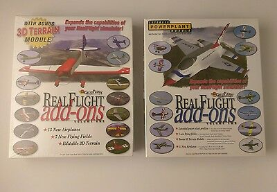 Great Planes RealFlight Add Ons PC Games Volume 1 & 2 - Sealed in boxes