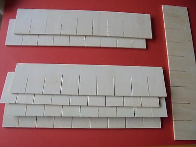 DOLLS HOUSE PACK OF 20 x WOODEN STRIP ROOFING/SIDING TILES. 1.12TH SCALE