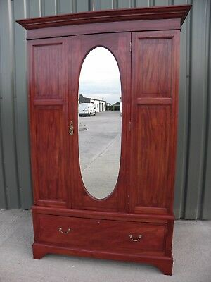 FREE DELIVERY , Mahogany Antique Mirrored Wardrobe
