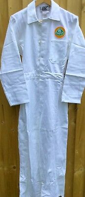 """RARE!  Goodwood Revival Classic Vintage Lotus Badged Mechanic Overalls 36"""" Chest"""