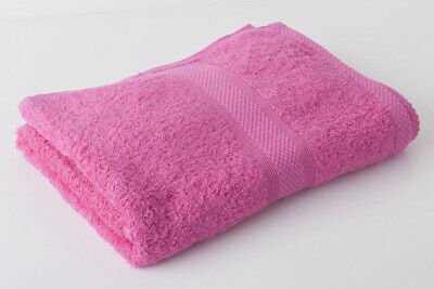 12 X Hot Pink 100% Egyptian Cotton Hairdressing Towels / Salon 500Gsm 50 X 85Cm