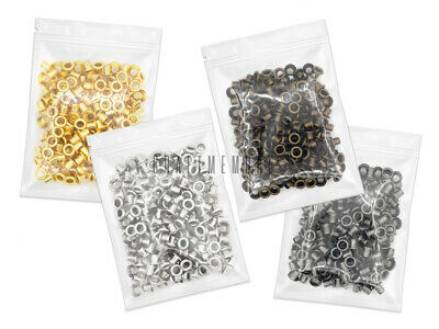 4MM Hole 100pcs Grommets Eyelets Self Backing Bead Cores Clothes Leather Canvas