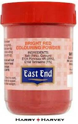 12 x 25g East End Bright Red Food Colouring Colour Powder Cooking cake curry