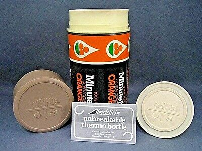 Vintage Minute Maid Orange Juice Thermos Cooler 1 Pint