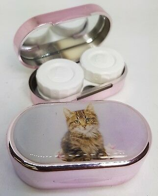 Rachael Hale Mirror Case Contact Lens Soaking Storage Case UK MADE - Kitten