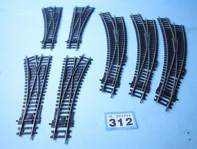Hornby 'oo' Gauge Lot Of 7X Assorted Nickel Silver Points  #312