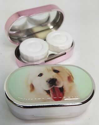 Rachael Hale Mirror Case Contact Lens Soaking Storage Case UK MADE - Happy Dog