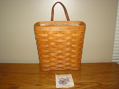 Longaberger 1992 TALL KEY Basket Set Classic Stain With Protector