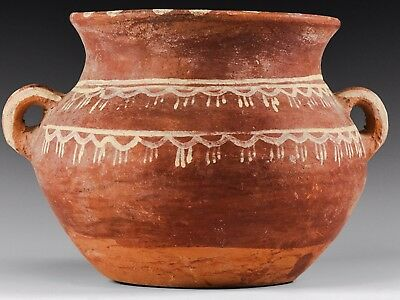 Top Quality Ancient Roman Period Red Ware Pot Twin Handles 100-300 AD VF Quality